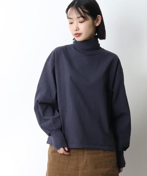 【 Healthknit / ヘルスニット 】アメリカンファブリック ルーズモックネック長袖Tシャツ 31001 SIP・・