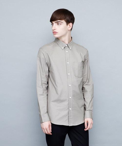 オックスフォード ストレッチボタンダウンシャツ