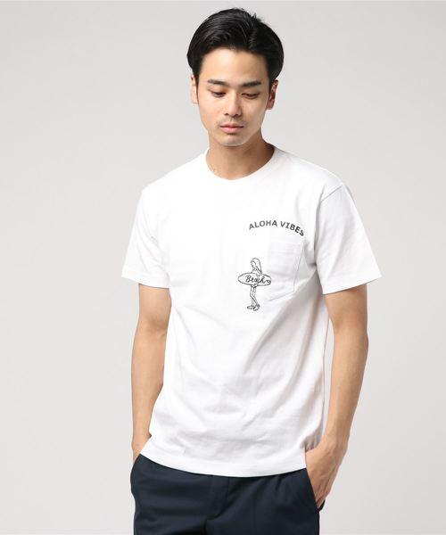 【Kahiko】ALOHA VIBES メンズポケットTシャツ M