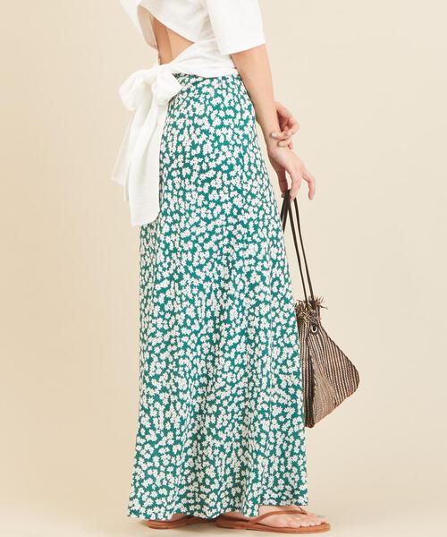 BY∴ フラワープリントマキシスカート 2