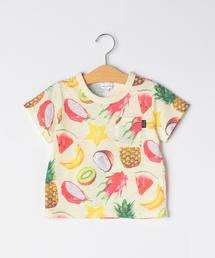 スラブフルーツプリントTシャツ