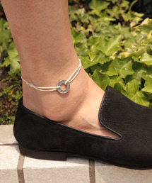 amp japan(アンプジャパン)の10cent waxed cord anklet - white -(10セント ワックスコード アンクレット)(アンクレット)