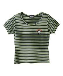 SKULL PANDA刺繍 Tシャツブラック