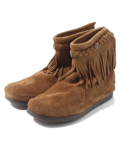 【在庫有】 【MINNETONKA】 ミネトンカ ハイトップバックジップフリンジブーツ (ブーツ) Minnetonka(ミネトンカ)のファッション通販, ナチュラルテラ:c61f5d66 --- ulasuga-guggen.de