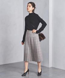 UBCS P/W チェック プリーツスカート ◆