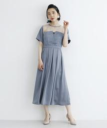 merlot plus(メルロープリュス)のビスチェ風ワンピース2606(ドレス)
