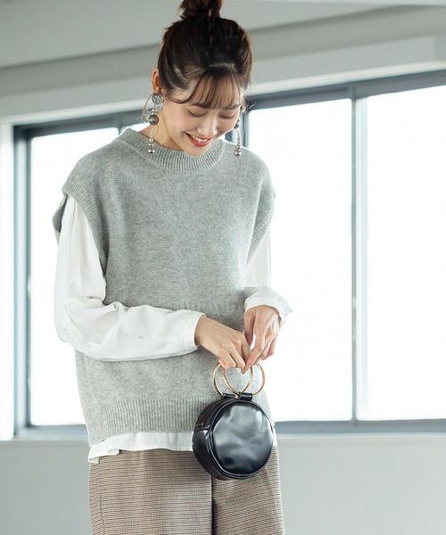 【先行販売・手洗いできる】ラムウールニットベスト