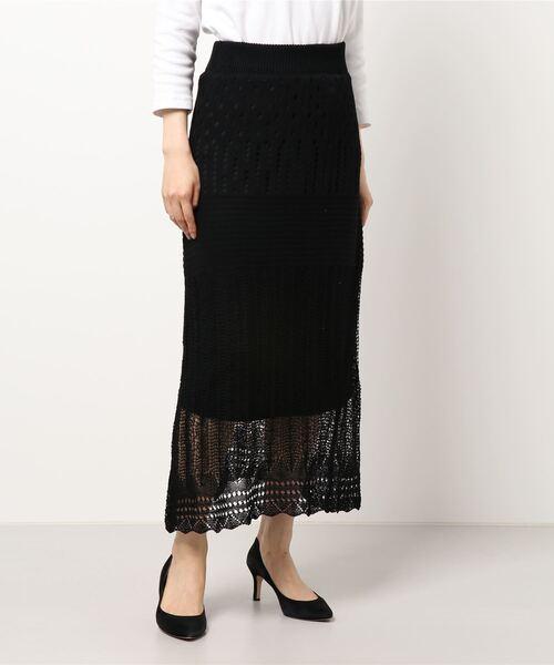 かぎ針ニットスカート