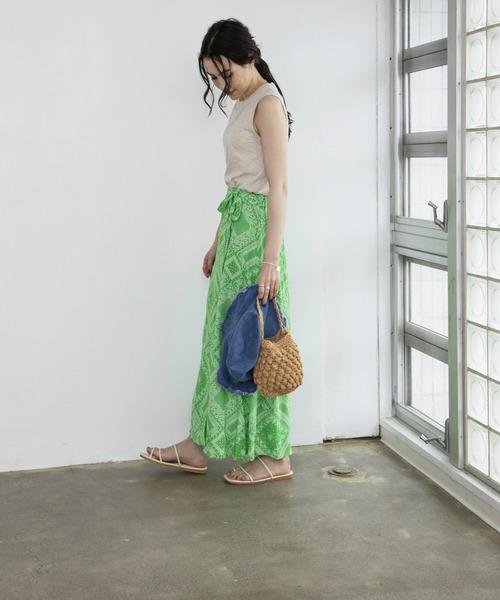 pattern wrap skirt