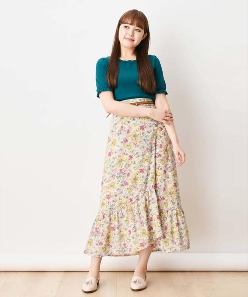 【Ray/美人百花掲載】ノスタルジックフラワースカート