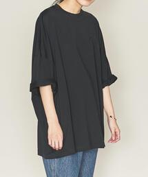 ASTRAET(アストラット)クルーネック ビッグ 7分袖Tシャツ