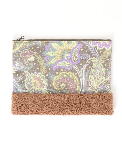 pattern boa clucth bag