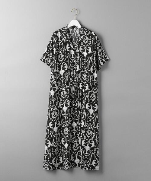 BY リバティプリントオープンカラーシャツワンピース: ◆