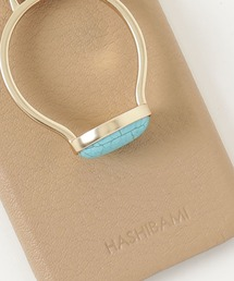 【 Hashibami / ハシバミ 】 iPhone 12/12pro スマホ・携帯カバー 天然石リング付きケース・・ベージュ