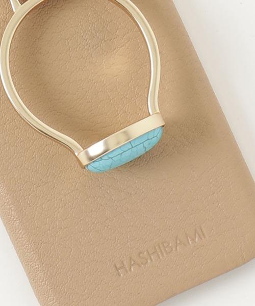 【 Hashibami / ハシバミ 】 iPhone 12/12pro スマホ・携帯カバー 天然石リング付きケース・・