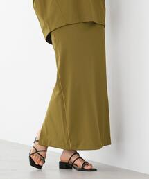 FEELING MADE ストレッチポンチ Iライン タイトロング スカート