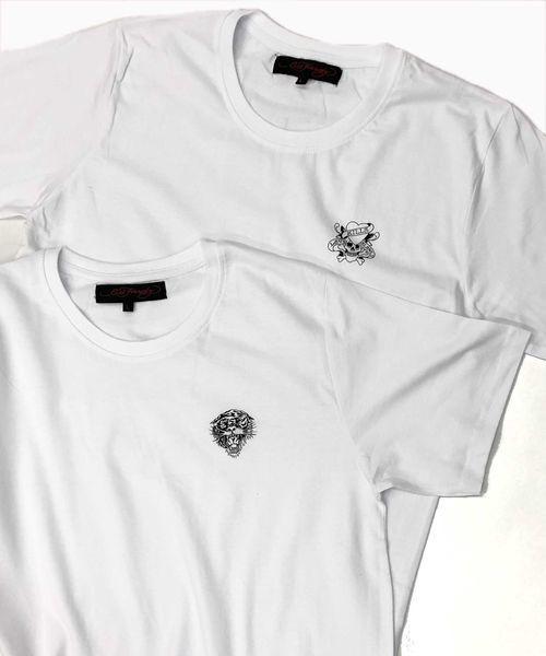 【Ed Hardy(エド ハ-ディ-)】2ピースパック/ドン・エドハーディー書下ろしワンポイントTシャツ(クルーネック)
