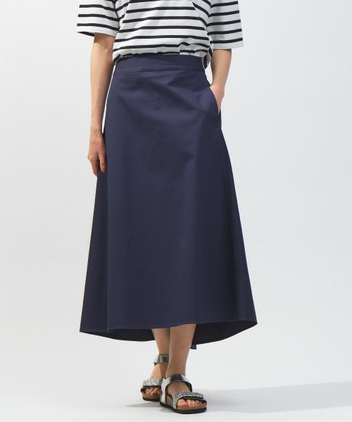 collex(コレックス)の「セミフレアースカート(スカート)」|ネイビー