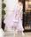 Fashion Letter(ファッションレター)の「ビスチェ風フィッシュテール 結婚式ワンピースドレス(ドレス)」 ダークラベンダー