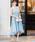 Fashion Letter(ファッションレター)の「ビスチェ風フィッシュテール 結婚式ワンピースドレス(ドレス)」 ブルーグレー