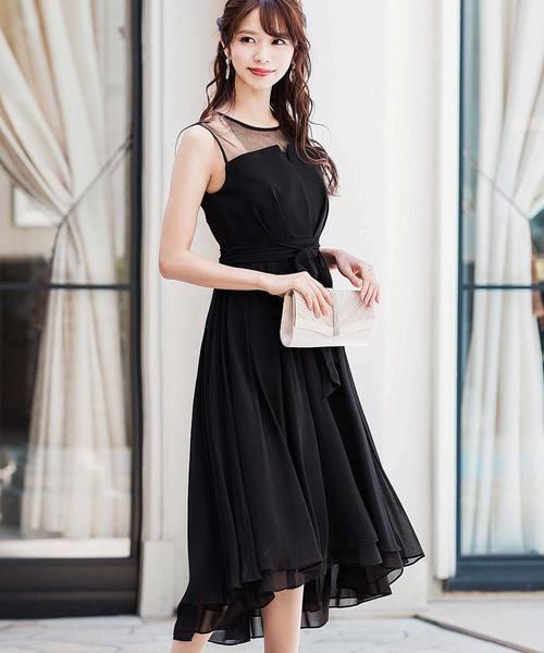 Fashion Letter(ファッションレター)の「ビスチェ風フィッシュテール 結婚式ワンピースドレス(ドレス)」 ブラック