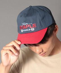 【STAPLE】フロント刺繍ベースボールキャップ(キャップ)
