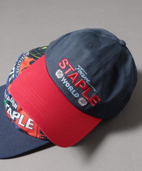 【STAPLE】フロント刺繍ベースボールキャップ