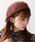 WEGO(ウィゴー)の「WEGO/バスクベレー帽(ハンチング/ベレー帽)」|ブラウン