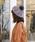 MELROSE claire(メルローズ クレール)の「フォックスファー付ニット帽(ニットキャップ/ビーニー)」|グレー
