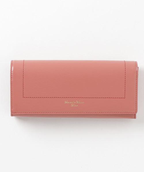 【本物新品保証】 シンプルかぶせ長財布, 下仁田町 c19552f7