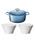 Le Creuset(ルクルーゼ)の「【特別セット】シグニチャー ココット・ロンド 18cm & ボール(L)2個 セット(キッチンツール)」 ブルー系その他