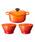 Le Creuset(ルクルーゼ)の「【特別セット】シグニチャー ココット・ロンド 18cm & ボール(L)2個 セット(キッチンツール)」 オレンジ