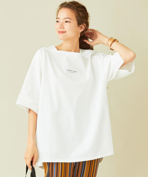 【予約】【別注】<AMERICANA>ワイドスリットビッグTシャツ