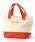 MONO COMME CA(モノコムサ)の「キャンバス トートバッグ(トートバッグ)」|オレンジ