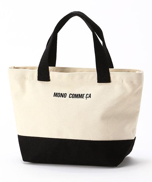 MONO COMME CA(モノコムサ)の「キャンバス トートバッグ(トートバッグ)」|ブラック