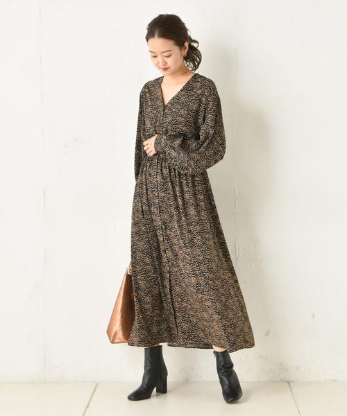 【お気に入り】 プリントギャザーワンピース(ワンピース)|DouDou(ドゥドゥ)のファッション通販, シュクラン:dd468fe5 --- tsuburaya.azurewebsites.net