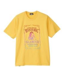 WHISKY LABEL刺繍 Tシャツイエロー