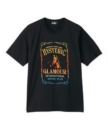 WHISKY LABEL刺繍 Tシャツブラック