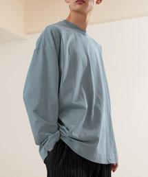 シルケットライク天竺 ワイドスリーブ L/S カットソー EMMA CLOTHES 2021SPRINGブルー系その他