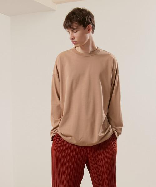 シルケットライク天竺 ワイドスリーブ L/S カットソー EMMA CLOTHES 2021S/S