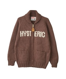 CANADIAN SWEATER×HYSTERIC/ HYSTERIC WOMAN編込カウチンブラウン