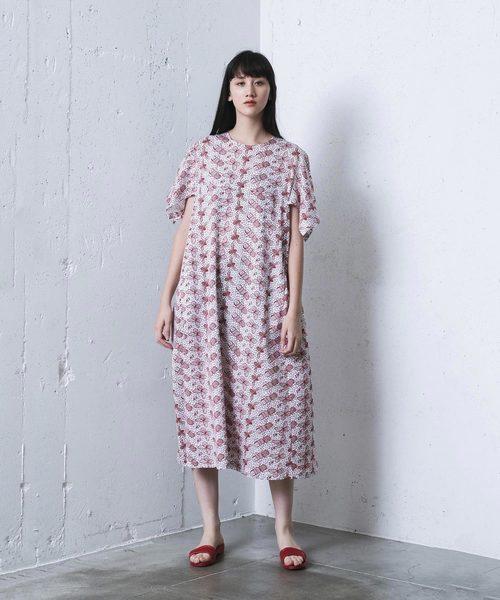 3bf595c75744b mintdesigns(ミントデザインズ)の「LACE PRINT DRESS   レースプリントドレス(