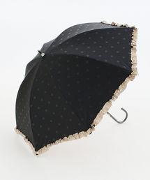 Afternoon Tea(アフタヌーンティー)の遮光ドットフリル晴雨兼用長傘 日傘(長傘)