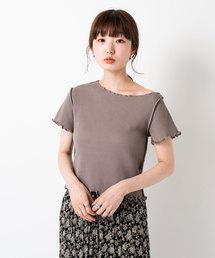 Kastane(カスタネ)の半袖パイピングメロウワッフルTee2(Tシャツ/カットソー)