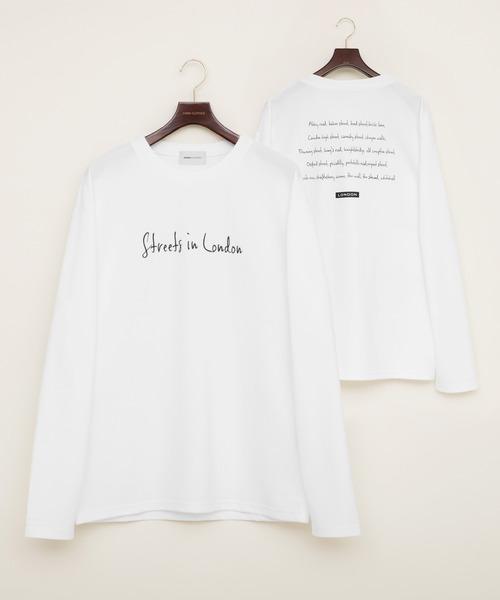 ポンチローマ オーバーサイズ L/S プリントデザインカットソー(EMMA CLOTHES)