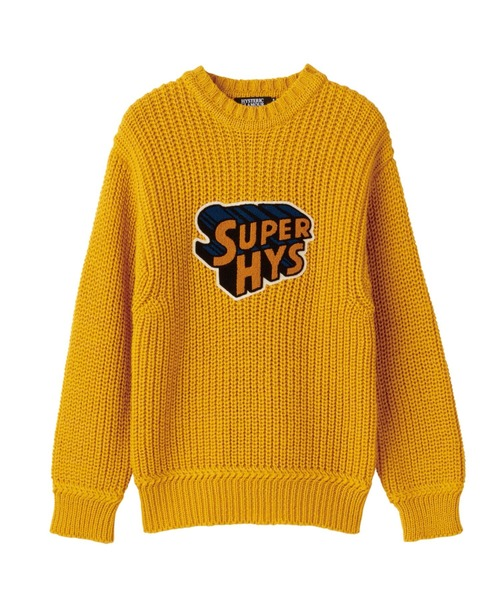 BRITISH WOOL×HYSTERIC/ SUPER HYSワッペン プルオーバー