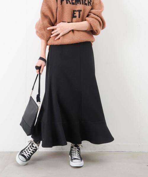 LUCA/LADY LUCK LUCA(ルカ/レディラックルカ)の「LC/LLL カルゼフレア切替スカート(スカート)」|ブラック