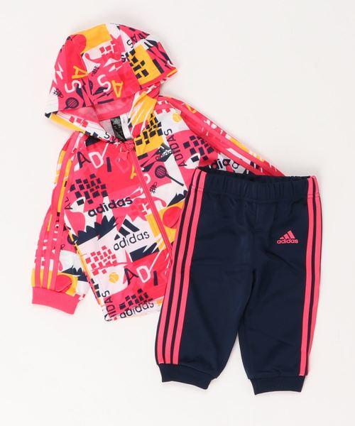 ee283231445d91 シャイニー フーデッド ジョガー 上下セット [Shiny Hooded Jogger Set] アディダス(キッズ/子供用)(ジャージ)|adidas (アディダス)のファッション通販 - ...