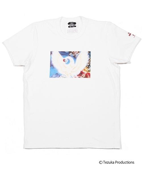 TMT(ティーエムティー)の「【雑誌monoマガジン 掲載商品】TEZUKA CHARACTERS×TMT S/SL RAFI JERSEY(HINOTORI)(Tシャツ/カットソー)」|ホワイト