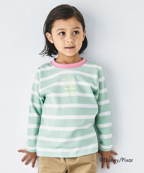 〔別注〕Disney KIDEA/ ボーダーロングスリーブTシャツ